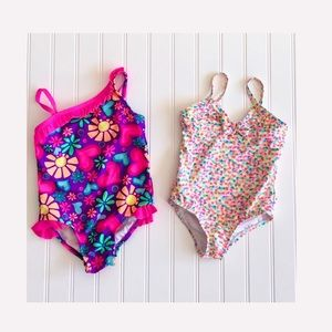 Other - 2 Toddler Girls 1 Piece Swimsuits. Size 3T.